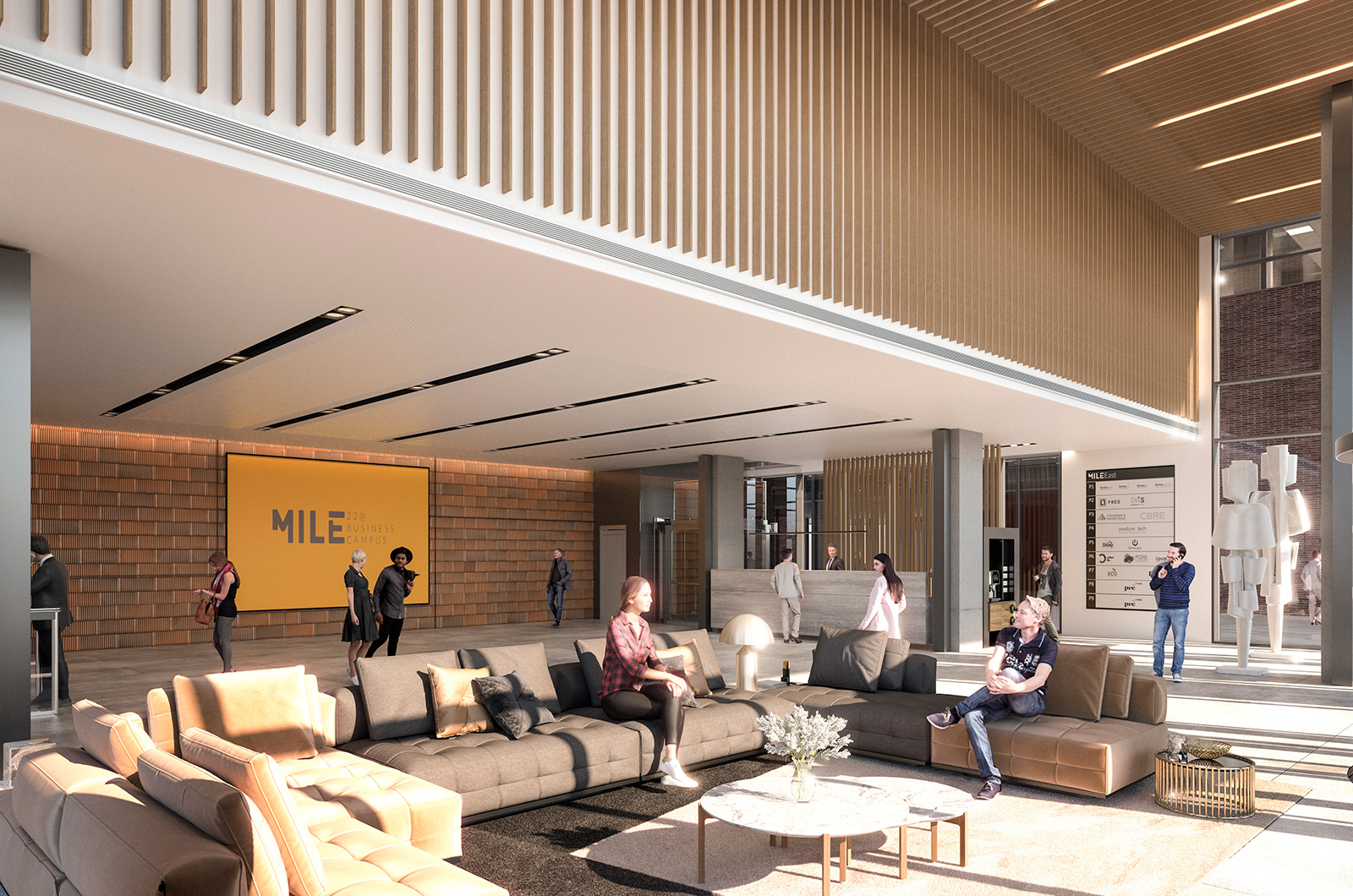 MILE BUSINESS CAMPUS LLULL LOBBY